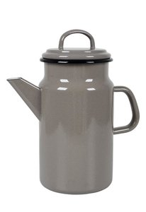 Koffiepot emaille taupe