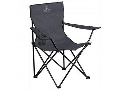 Zwarte vouwstoel